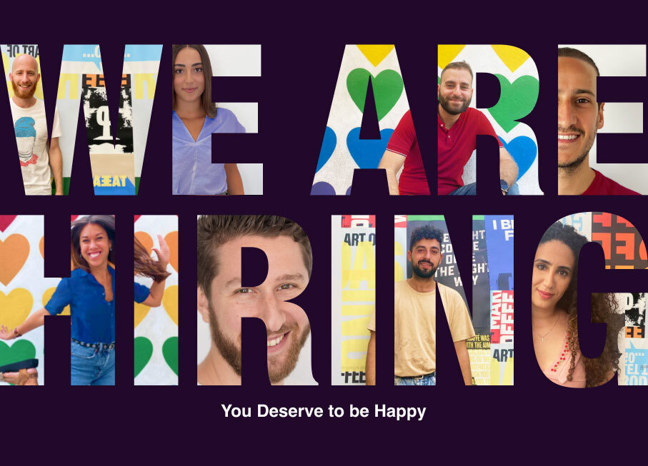 We Are Hiring - You Deserve to be Happy