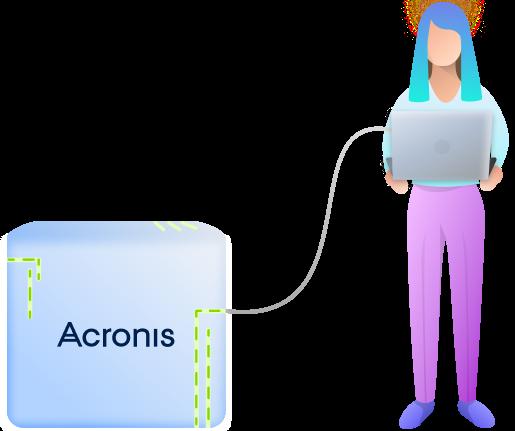 In Atera integrierte Lösung für Online-Backups über Acronis