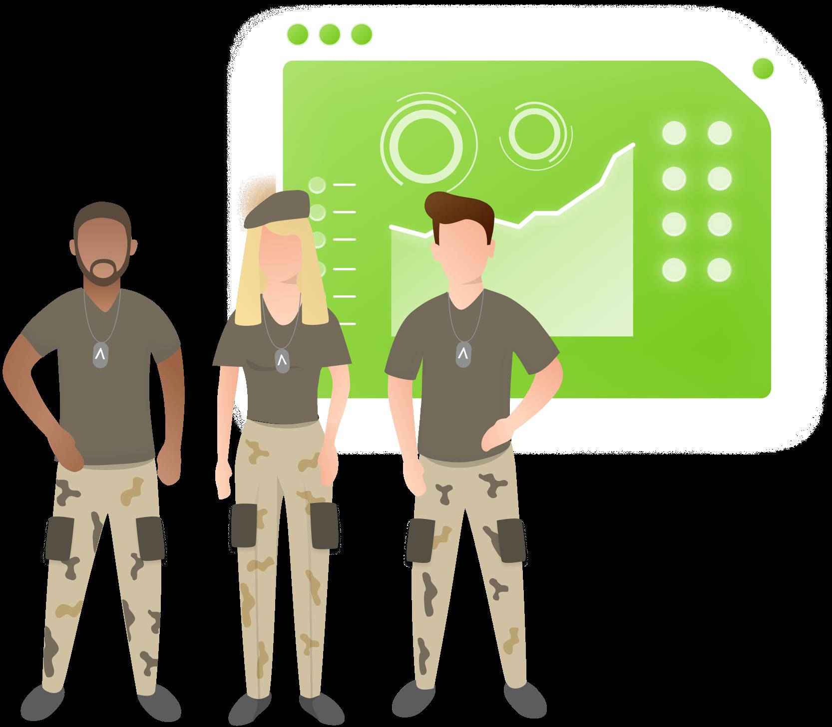 army illustrartion