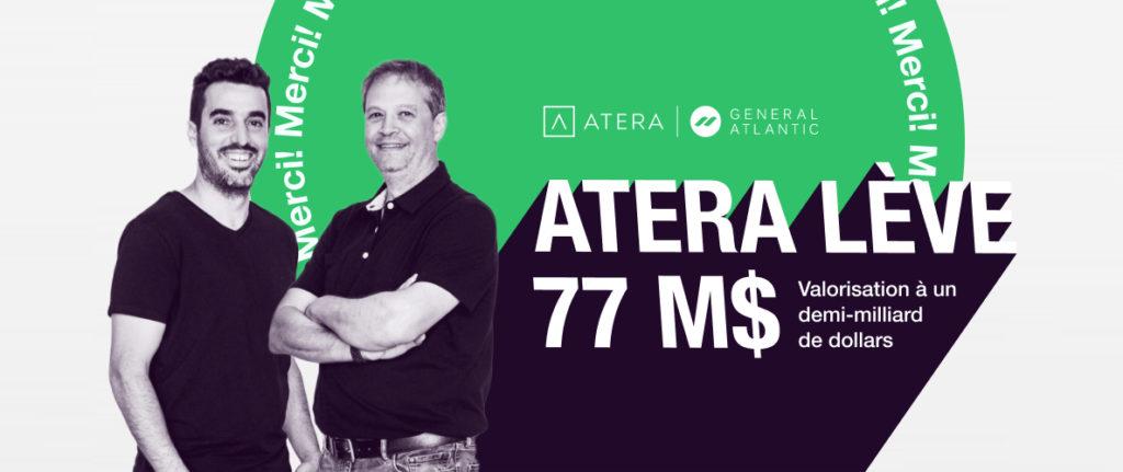 Atera lève 77 millions de dollars en série B auprès de General Atlantic, avec une valorisation à un demi-milliard.